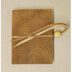 Quaderno - Diario 9x13 pelle grezza - Collezione Silvia